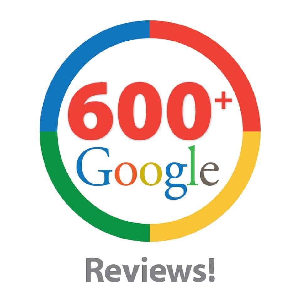 600 Google Reviews Testimonial Page