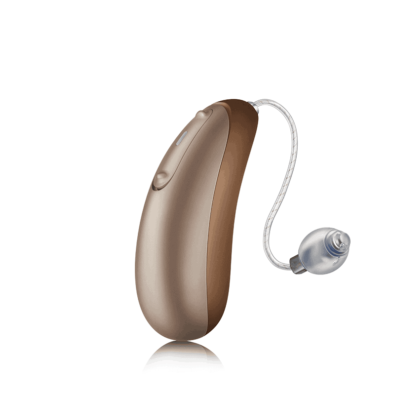 Discover Jump Amber Suede Hearing Aid